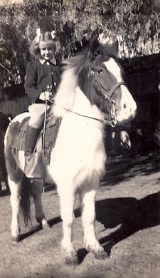 Judy Martin on Pony